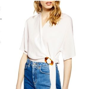 Buckle Wrap Top by TOPSHOP